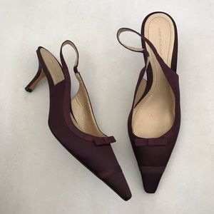 Ann Taylor Purple Slingback Pointed Toe Heels